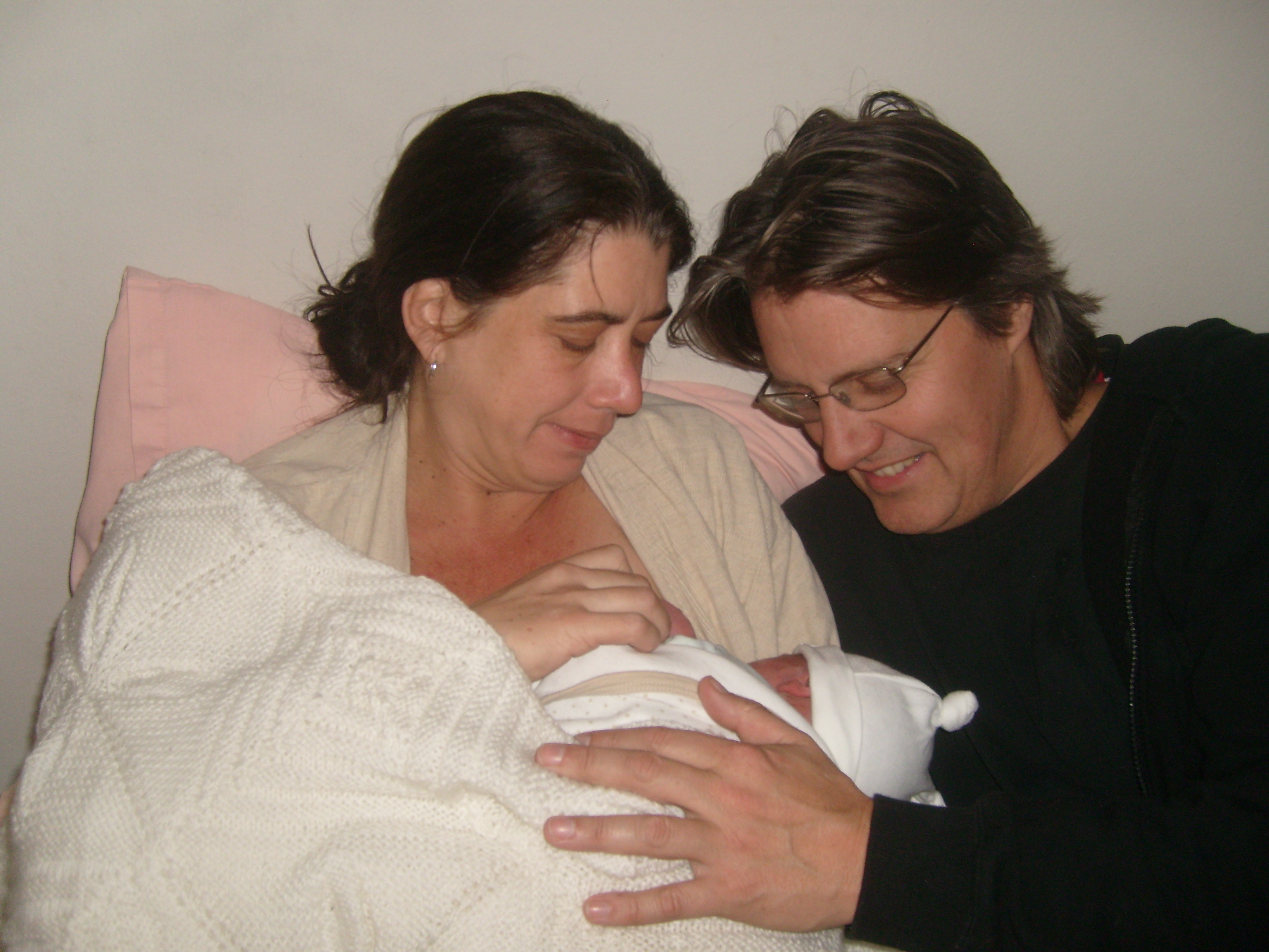 A baby breastfeeding after birth