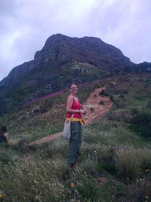 Bernadette on Table Mountain