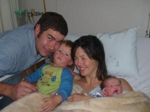 Marli, Pieter and 'my engeltjies' - My Angels!