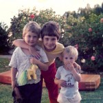 My three sons playing in the garden 21 yrs ago