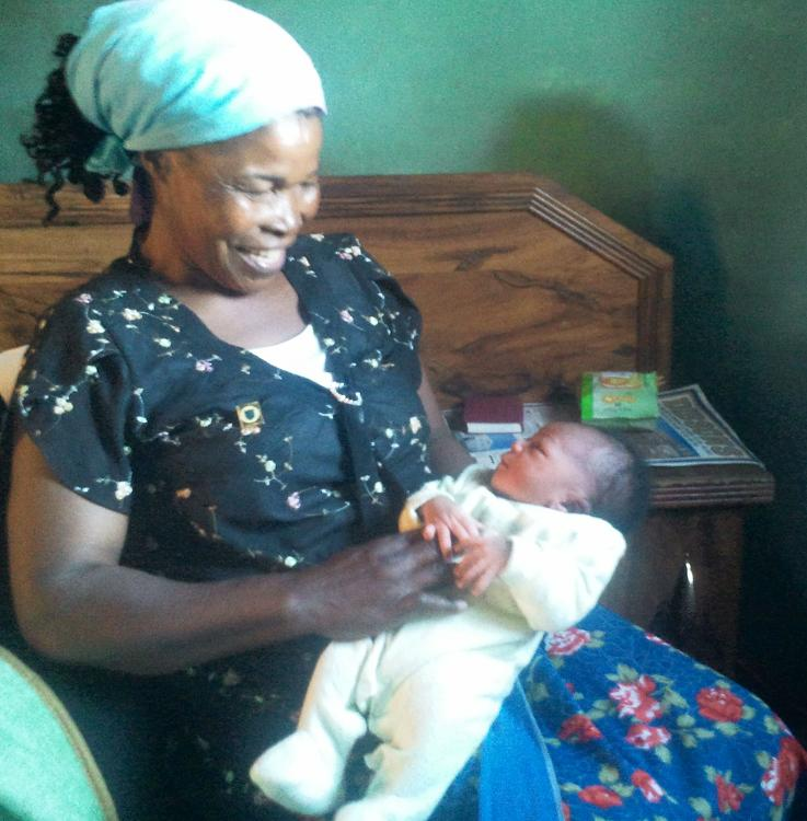 Grandmother Tapsile's joy at her granddaughter