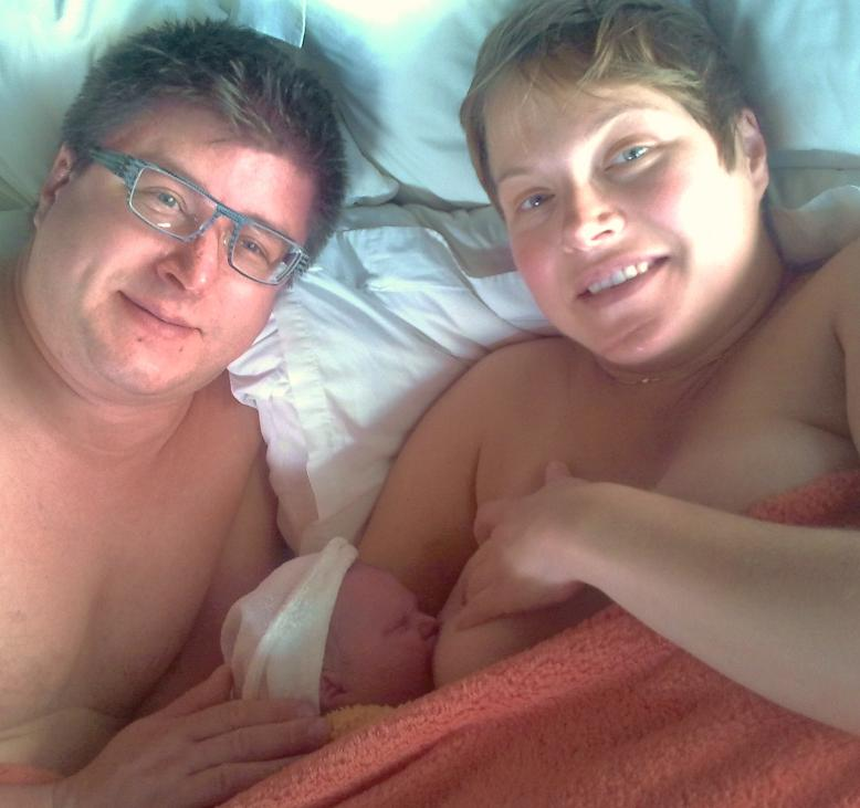 Katia, Denis and Marina soon after birth