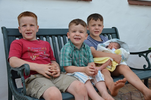 Gregoire, Augustyn, Nichola and Guillaume, the four Majoli boys