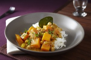 Fragrant R with Pumpkin and Chickpea Curryice