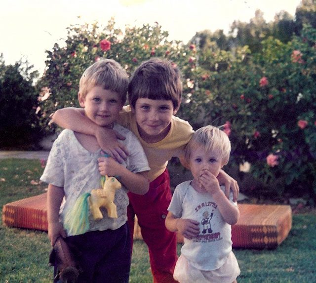 My three sons as youngsters