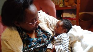Cecila and her son 6 weeks after a gentle birth